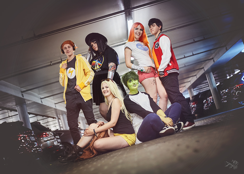 Teen Titans Casual Cosplay Gruppe Franco