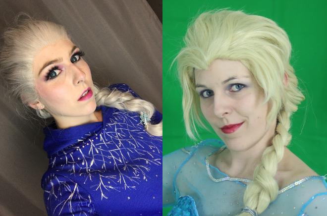 Elsa Frozen Make Up Cosplay