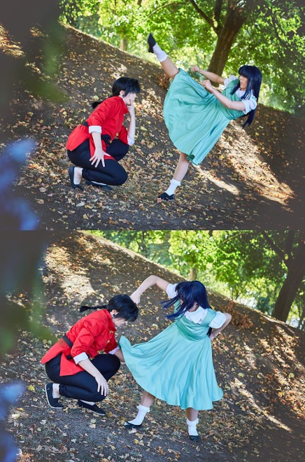 Ranma 1/2 Saotome Akane Tendo Rumiko Takahashi Cosplay Costume Posing