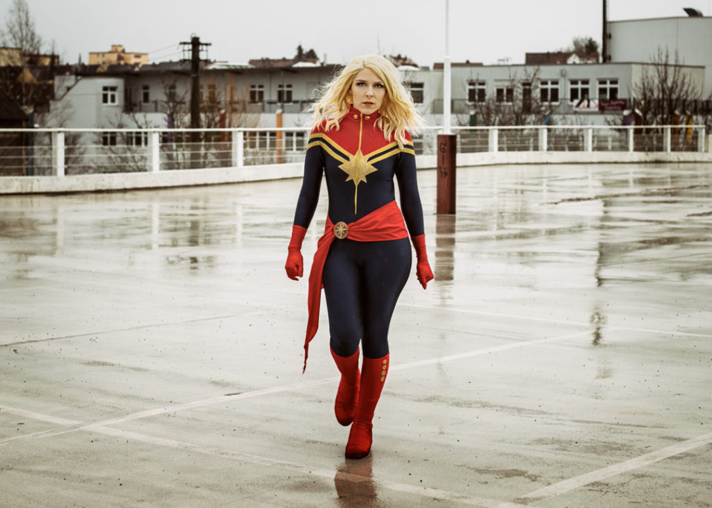 Captain Marvel Sajalyn Cosplay Kostüm