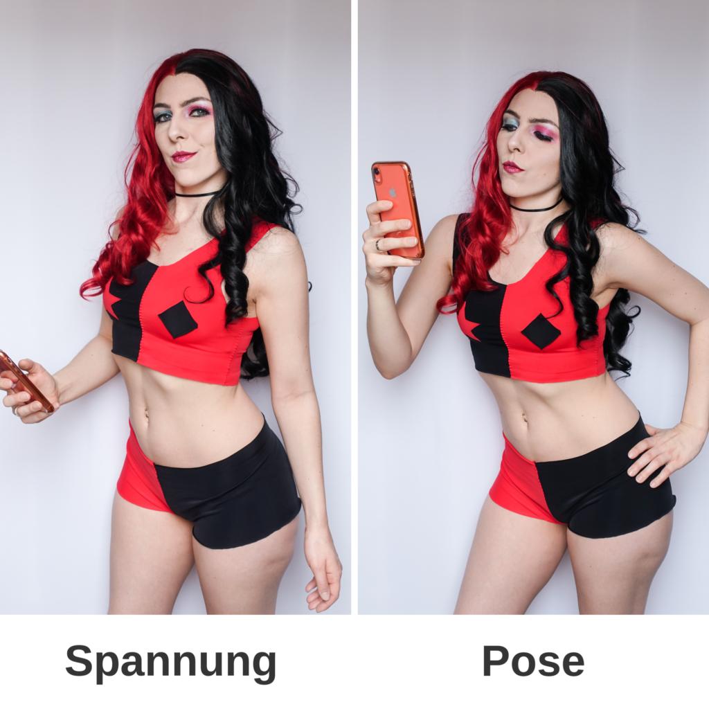 SajaLyn Harley Quinn Posing Posen Spannung Tipps