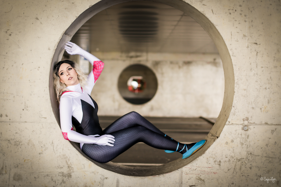 Spider-Gwen Gwen Stacey Spiderman Cosplay SajaLyn