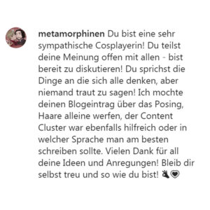 feedback_metamorphinen