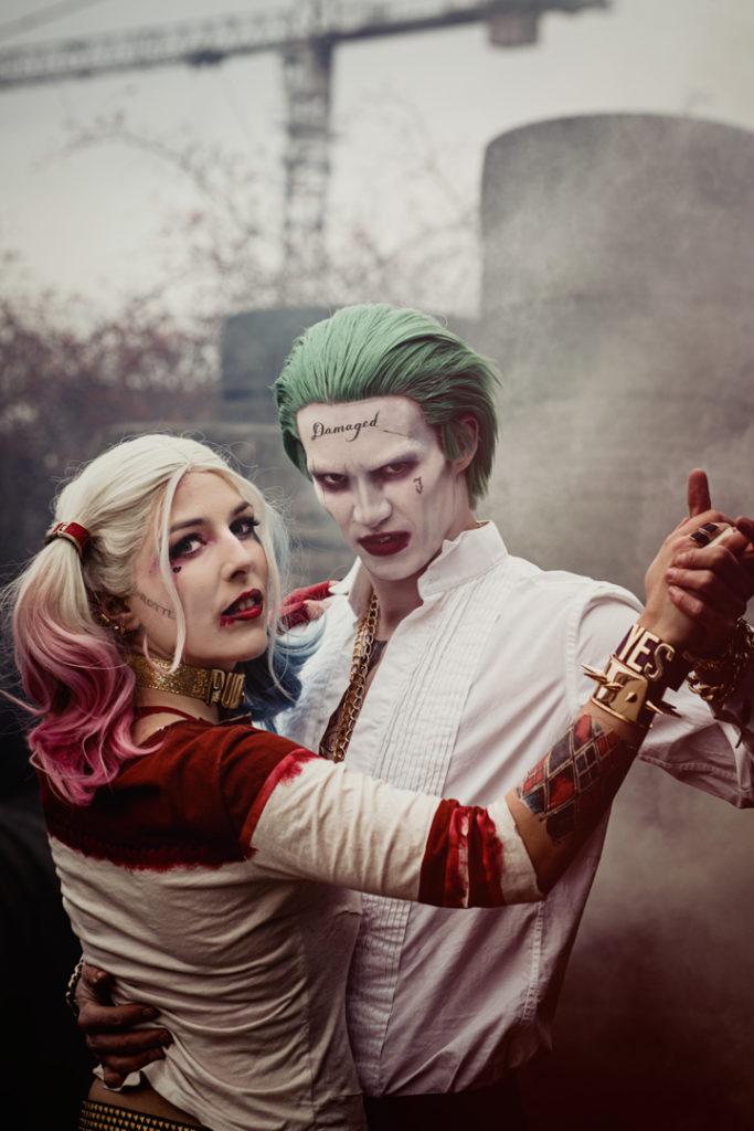 Harley Quinn Joker Cosplay Suicide Squad SajaLyn