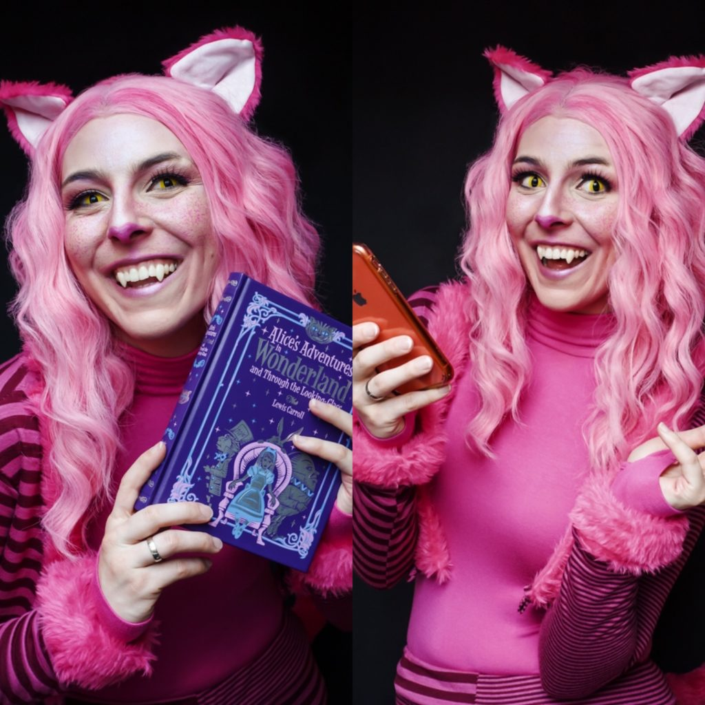 Cheshire Cat Grinsekatze Cosplay SajaLyn Alice in Wonderland Wunderland Lewis Caroll Grinser