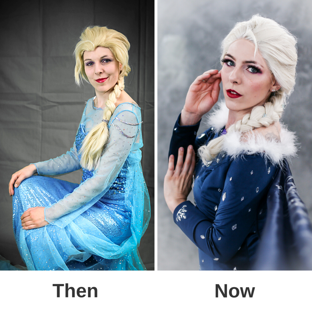 Cosplay SajaLyn Kritik Glow Up Elsa Frozen Arendelle Olaf's Adventures