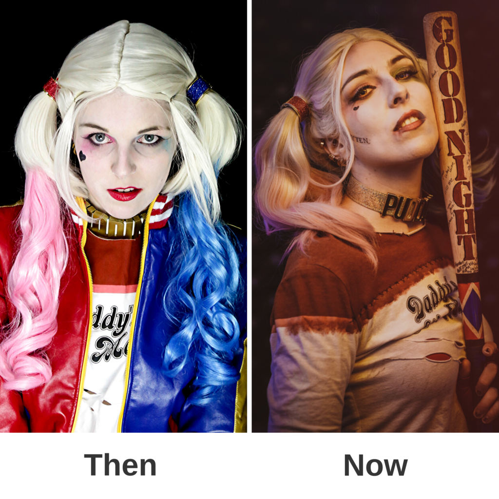 Cosplay SajaLyn Harley Quinn Suicide Squad Kritik Glow Up Margot Robbie