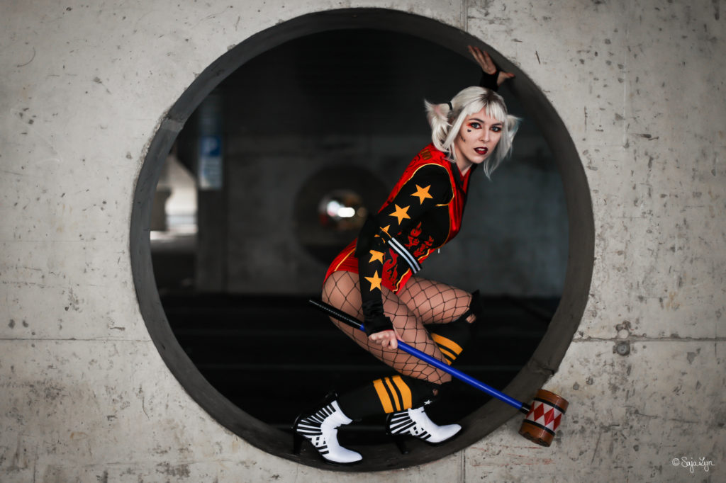 SajaLyn Cosplay Harley Quinn Birds of Prey Roller Derby